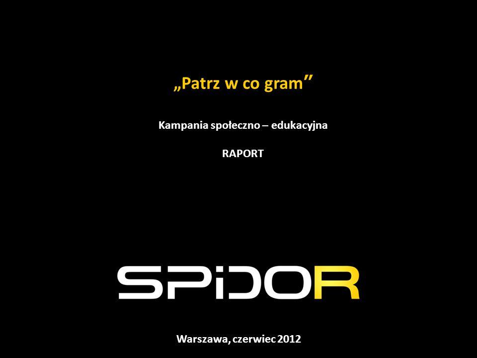 Patrz w co gram Kampania społeczno – edukacyjna RAPORT Warszawa, czerwiec 2012