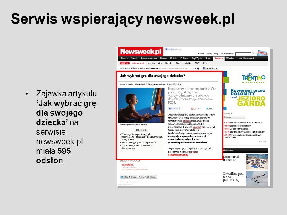 Zajawka artykułuJak wybrać grę dla swojego dziecka na serwisie newsweek.pl miała 595 odsłon Serwis wspierający newsweek.pl