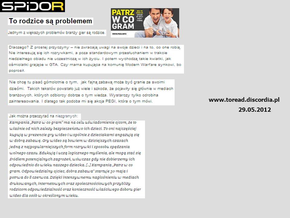 29.05.2012 www.toread.discordia.pl