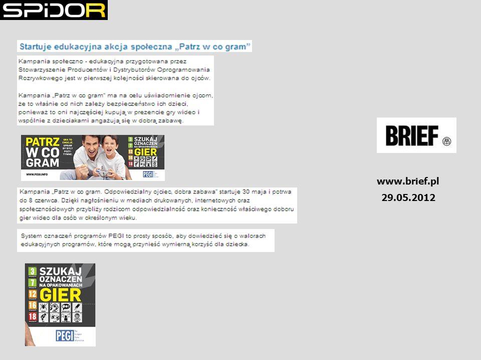 www.brief.pl 29.05.2012