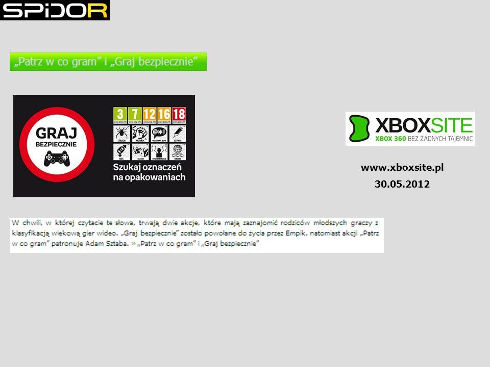 www.xboxsite.pl 30.05.2012