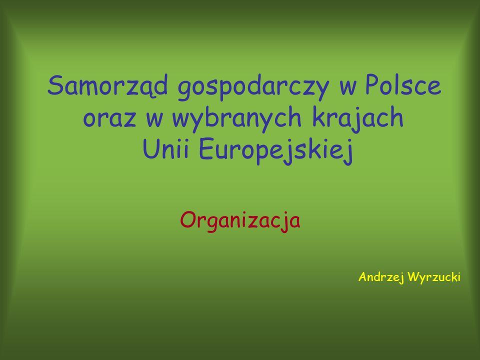 Samorząd gospodarczy w Polsce oraz w wybranych krajach Unii Europejskiej Organizacja Andrzej Wyrzucki