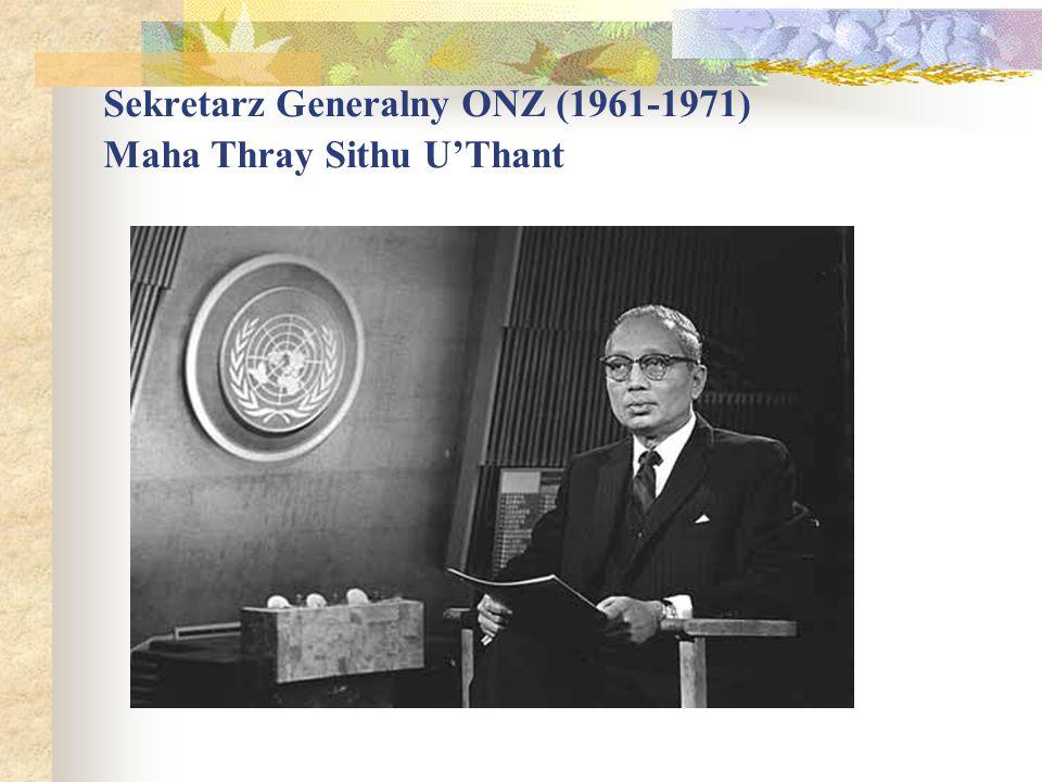 Sekretarz Generalny ONZ (1961-1971) Maha Thray Sithu UThant