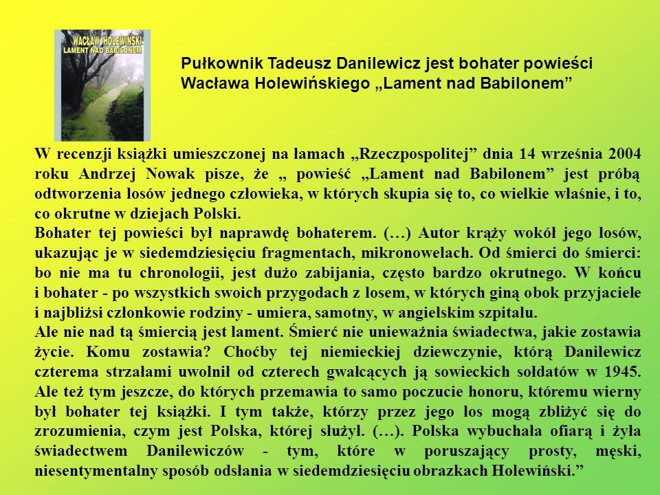 W recenzji książki umieszczonej na łamach Rzeczpospolitej dnia 14 września 2004 roku Andrzej Nowak pisze, że powieść Lament nad Babilonem jest próbą o