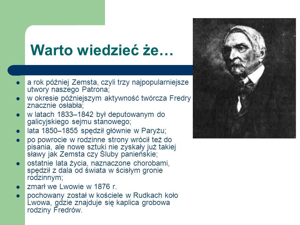 Fredro na dużym ekranie: Śluby panieńskie w reż.