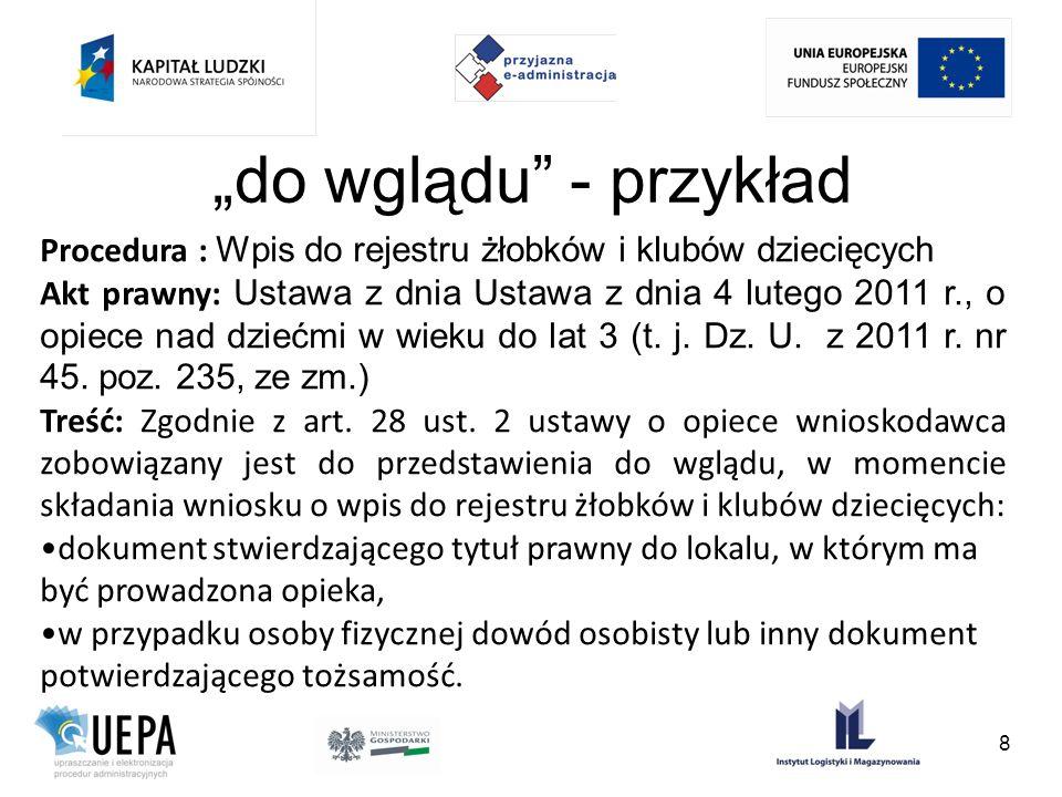 oryginał, poświadczona kopia, poświadczone tłumaczenie Ustawa z dnia 2 lipca 2004 r.