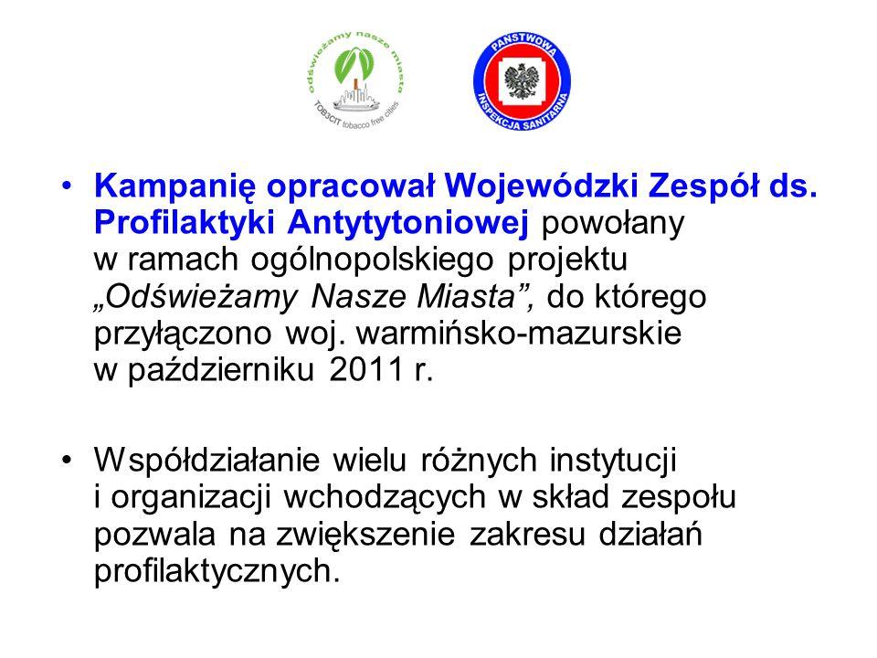 Kampanię opracował Wojewódzki Zespół ds. Profilaktyki Antytytoniowej powołany w ramach ogólnopolskiego projektu Odświeżamy Nasze Miasta, do którego pr