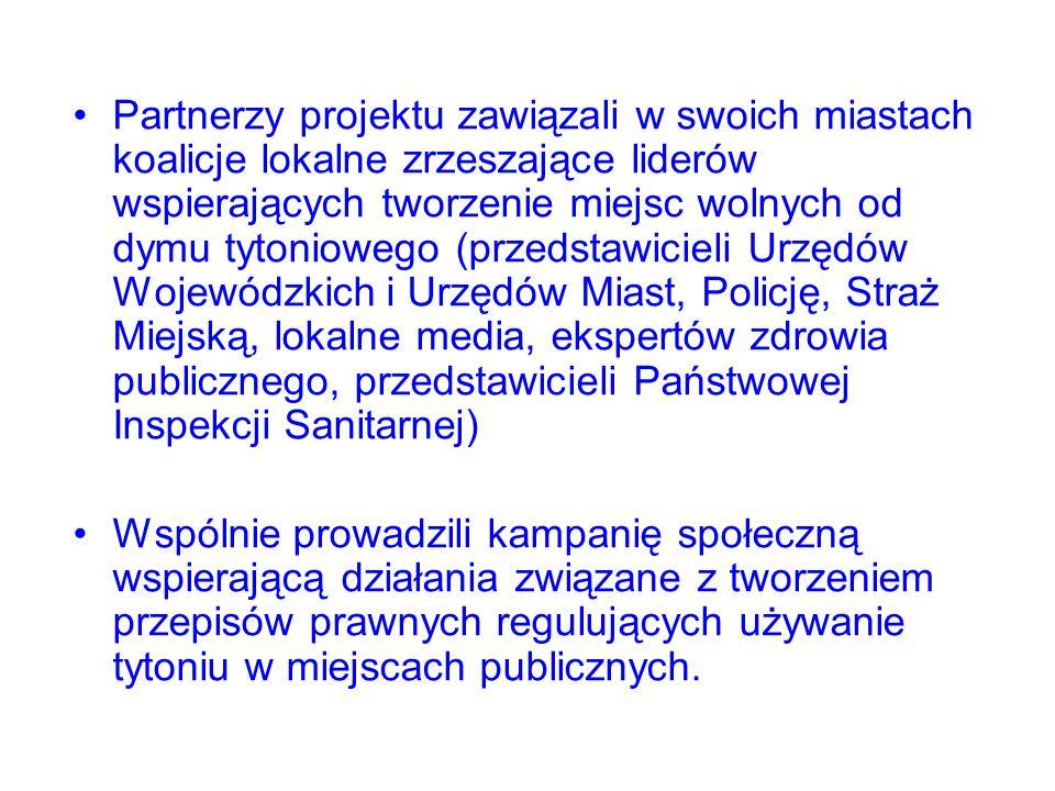 Celem projektu jest: wzmocnienie realizacji ustawy z dnia 9 listopada 1995 r.