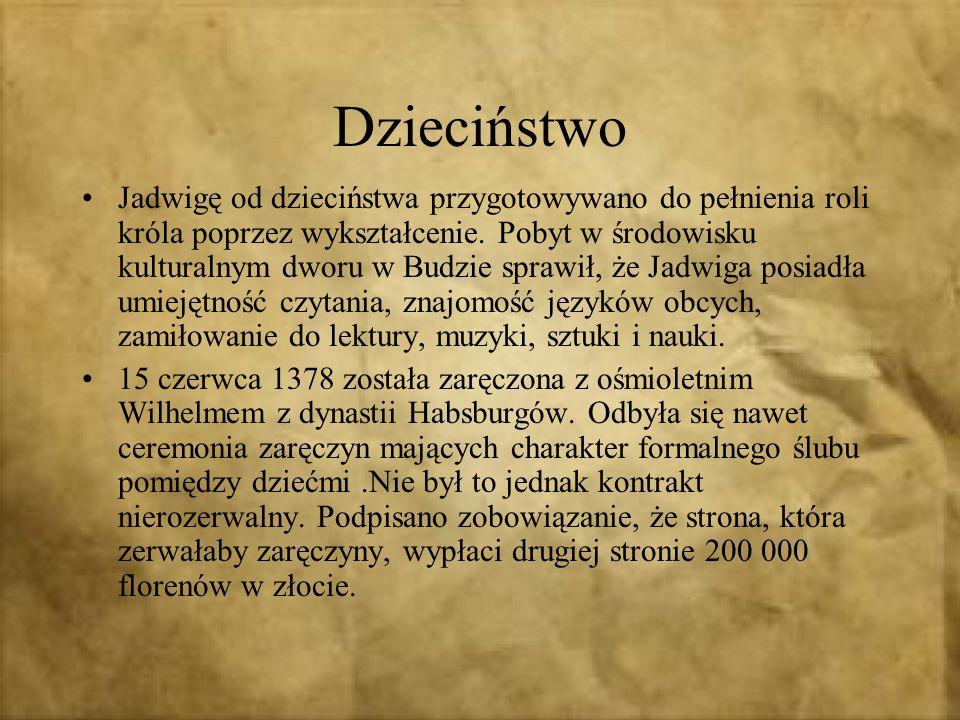 Panowie krakowscy, chcąc związać Polskę z Litwą, ofiarowali polską koronę wielkiemu księciu litewskiemu Jagielle, który miał przyjąć chrzest wraz ze swoim państwem Kasztelan krakowski Dobiesław Kurozwęcki przepędził austriackiego pretendenta z zamku.