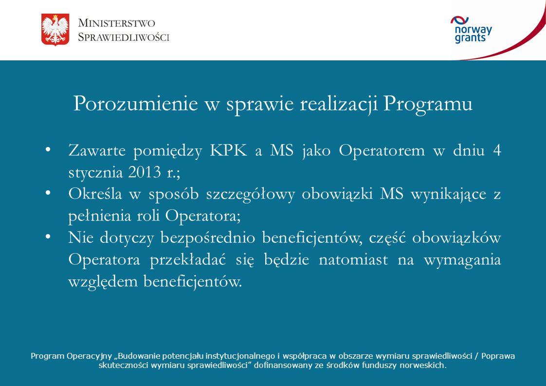 Program Operacyjny Budowanie potencjału instytucjonalnego i współpraca w obszarze wymiaru sprawiedliwości / Poprawa skuteczności wymiaru sprawiedliwoś