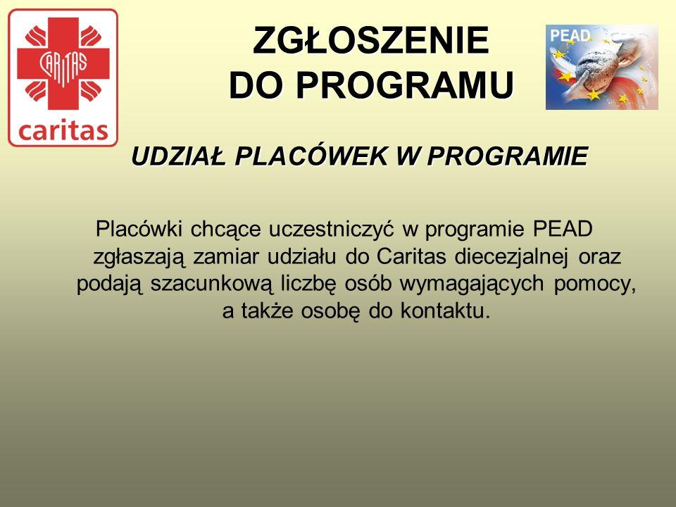 DOKUMENTY WYDAWANIA ARTYKUŁÓW SPOŻYWCZYCH OSOBOM INDYWIDUALNYM Podstawowym, obowiązującym w 2013 roku dokumentem wydawania artykułów spożywczych osobom indywidualnym jest Dziennik PEAD przygotowany przez Caritas Polska.