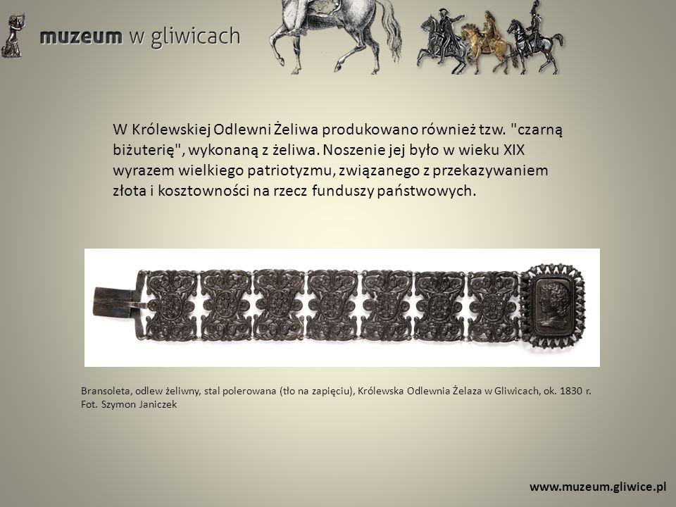 www.muzeum.gliwice.pl W Królewskiej Odlewni Żeliwa produkowano również tzw.