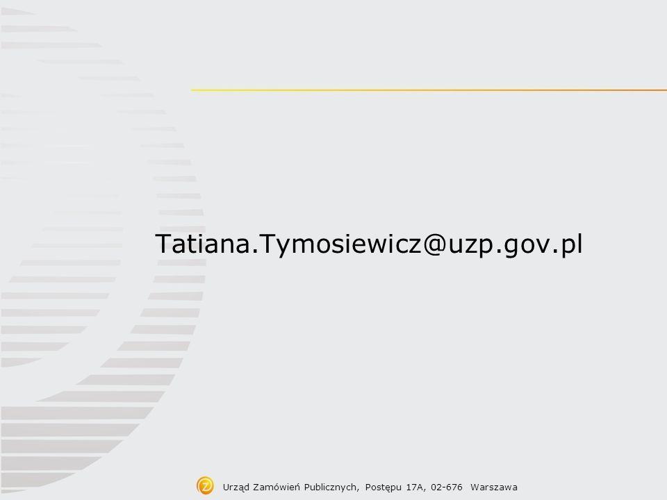 Prace legislacyjne Urząd Zamówień Publicznych, Postępu 17A, 02-676 Warszawa