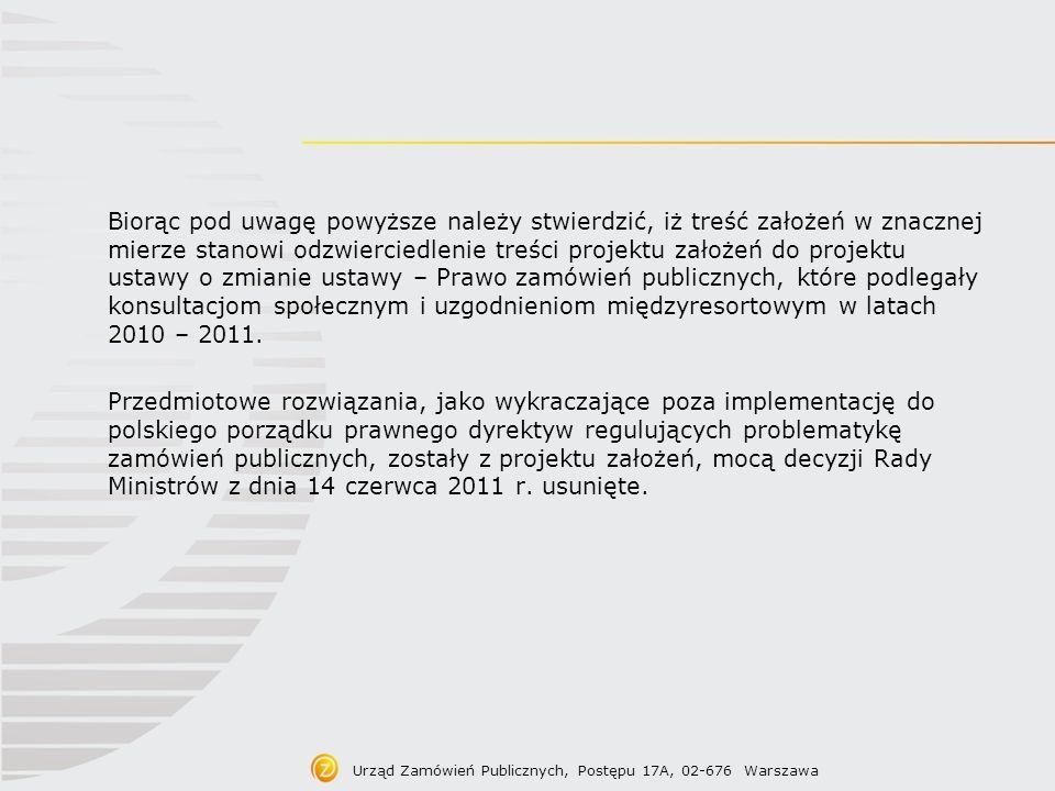 Treść projektu założeń Wprowadzenie możliwości ogłoszenia o planowanych zamówieniach poniżej progów unijnych proponuje się wprowadzenie regulacji, zgodnie z którą zamawiający, po zatwierdzeniu albo uchwaleniu planu finansowego (zgodnie z obowiązującymi zamawiającego przepisami, statutem lub umową), a w przypadku zamawiających, którzy nie sporządzają planu finansowego – raz w roku, będzie mógł przekazać do Biuletynu Zamówień Publicznych, lub zamieścić na swojej stronie internetowej, w miejscu wyodrębnionym dla zamówień, ogłoszenie informacyjne o planowanych zamówieniach poniżej progów unijnych.