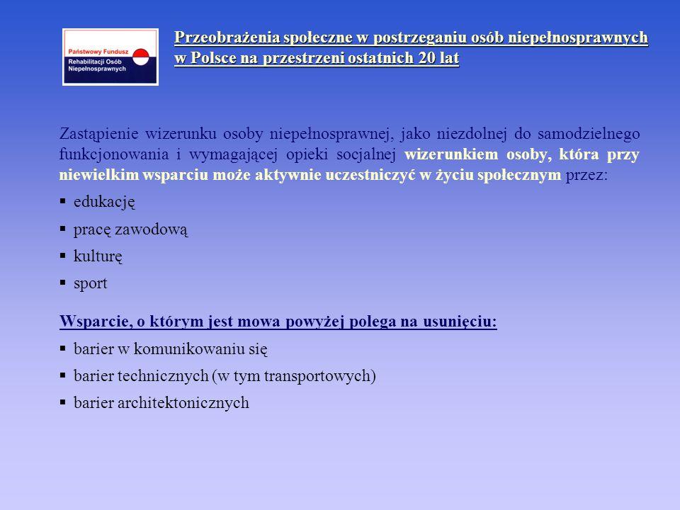 STUDENT II – kształcenie ustawiczne osób niepełnosprawnych Realizator programu: Oddziały PFRON, stypendia specjalne – Biuro PFRON.