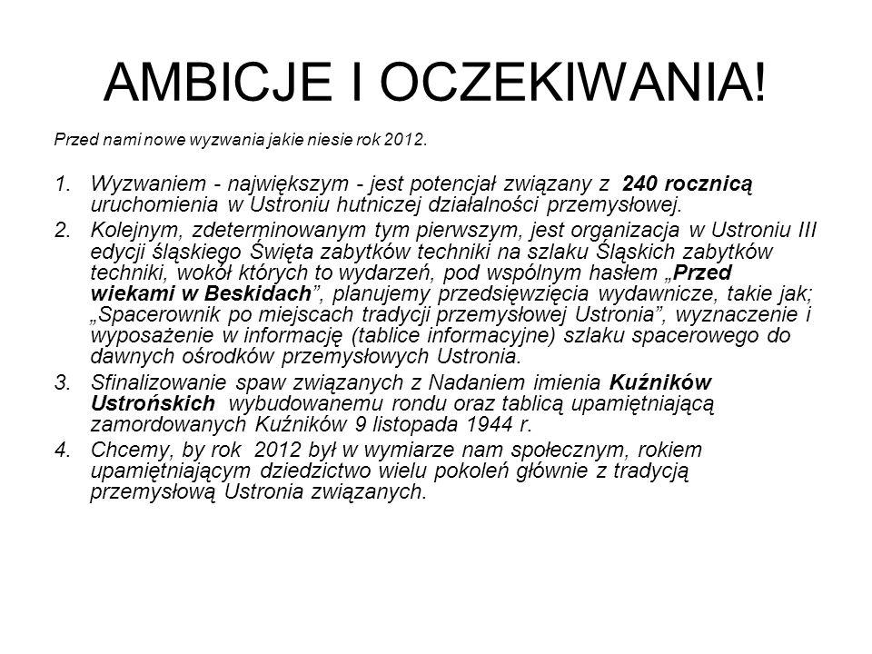 AMBICJE I OCZEKIWANIA.Przed nami nowe wyzwania jakie niesie rok 2012.