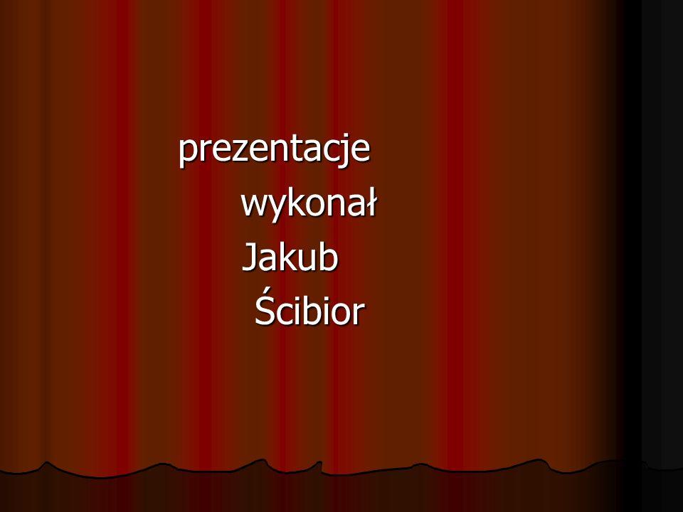 prezentacje prezentacje wykonał wykonał Jakub Jakub Ścibior Ścibior