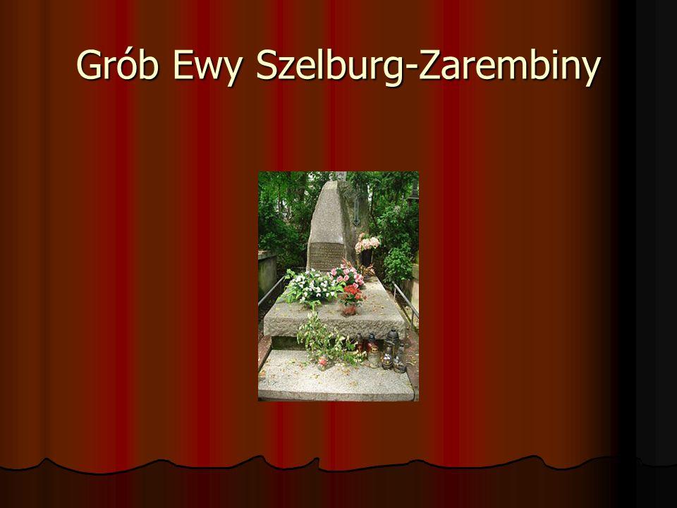 Grób Ewy Szelburg-Zarembiny