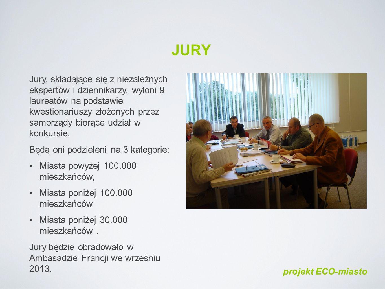JURY Jury, składające się z niezależnych ekspertów i dziennikarzy, wyłoni 9 laureatów na podstawie kwestionariuszy złożonych przez samorządy biorące udział w konkursie.
