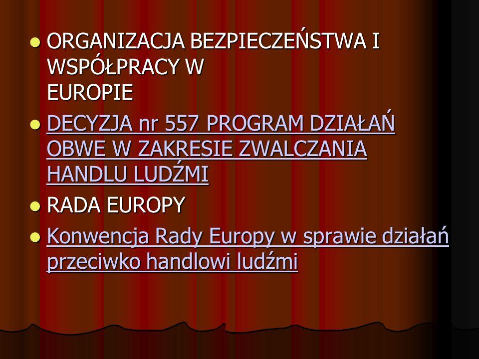 ORGANIZACJA BEZPIECZEŃSTWA I WSPÓŁPRACY W EUROPIE ORGANIZACJA BEZPIECZEŃSTWA I WSPÓŁPRACY W EUROPIE DECYZJA nr 557 PROGRAM DZIAŁAŃ OBWE W ZAKRESIE ZWA