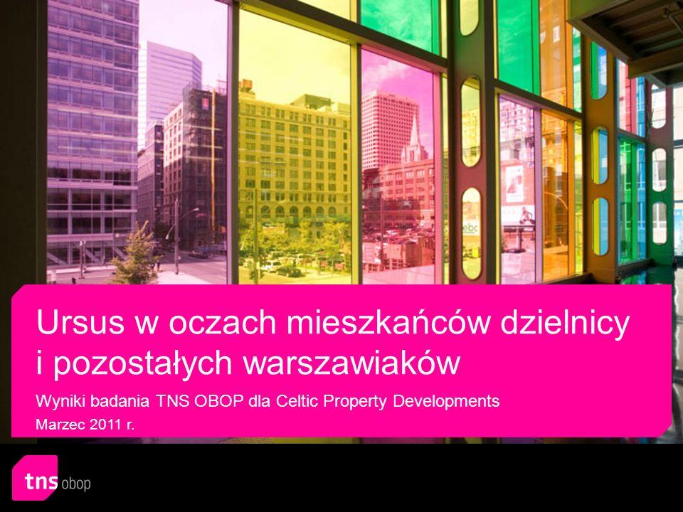 Klient Celtic Property Developments Metodologia CATI – wywiady telefoniczne wspomagane komputerowo Próba 1008 mieszkańców dzielnicy Ursus w wieku 18 i więcej lat 1000 mieszkańców Warszawy (z wyłączeniem mieszkańców dzielnicy Ursus) w wieku 18 i więcej lat Termin realizacji badania 4-7 marca 2011 r.