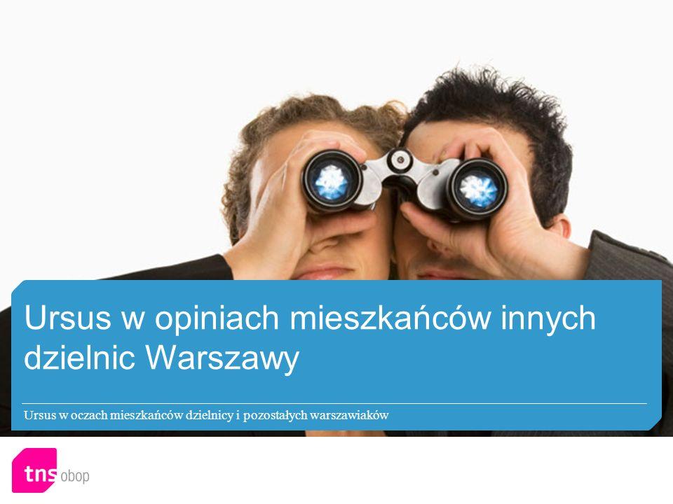 Ursus w opiniach mieszkańców innych dzielnic Warszawy Ursus w oczach mieszkańców dzielnicy i pozostałych warszawiaków
