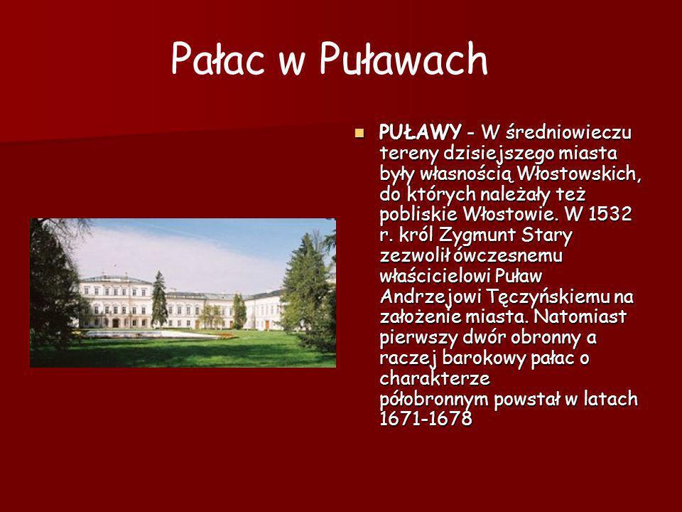 PUŁAWY - W średniowieczu tereny dzisiejszego miasta były własnością Włostowskich, do których należały też pobliskie Włostowie. W 1532 r. król Zygmunt