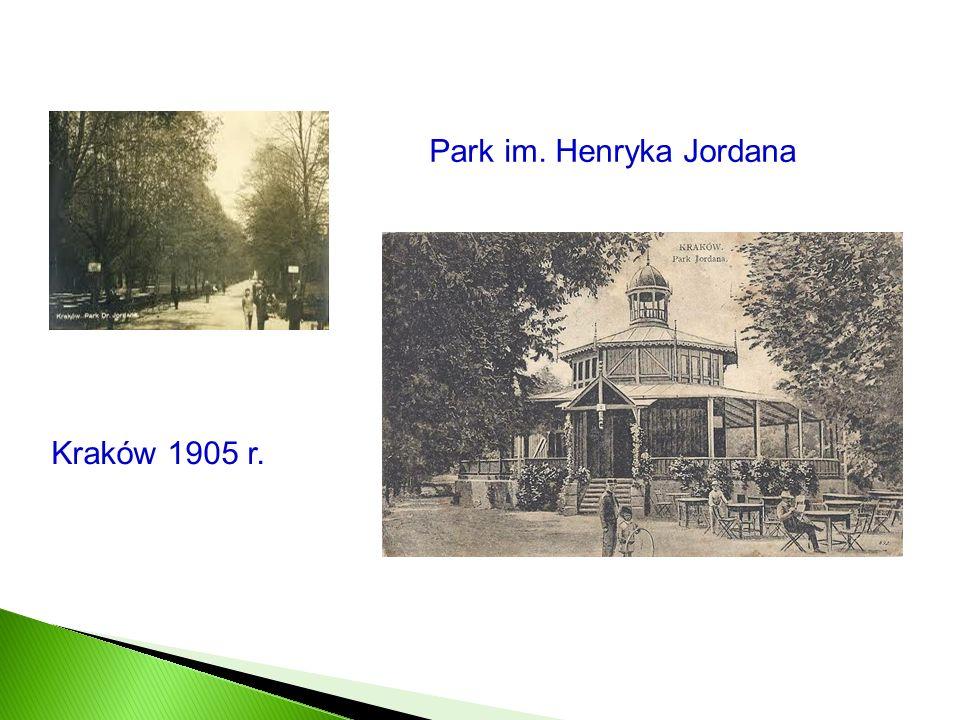 Park im. Henryka Jordana Kraków 1905 r.