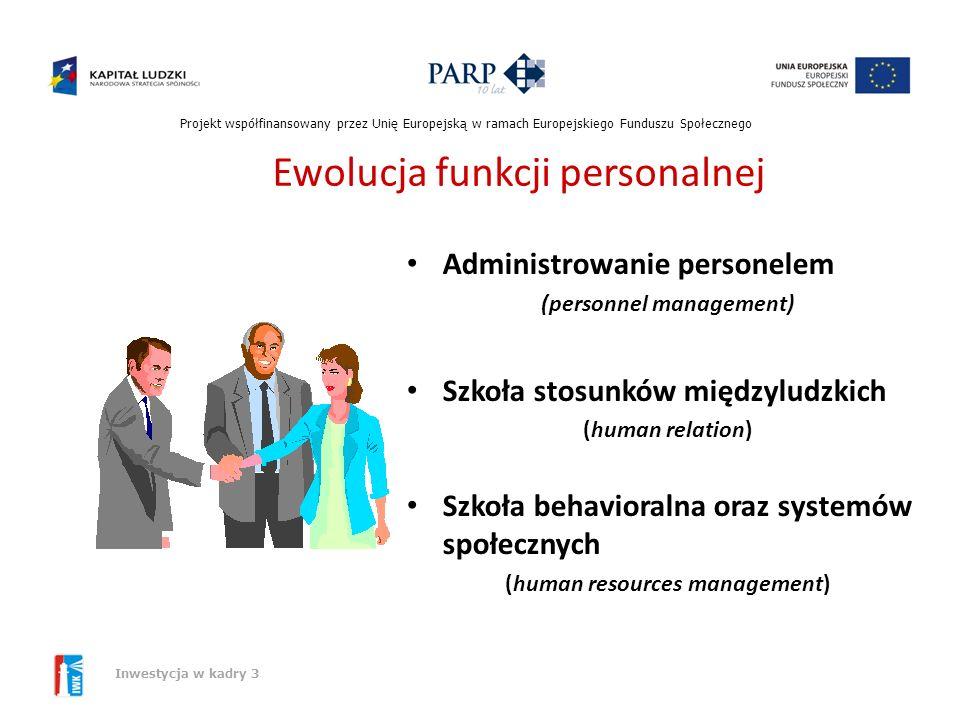 Projekt współfinansowany przez Unię Europejską w ramach Europejskiego Funduszu Społecznego Inwestycja w kadry 3 Zasoby niematerialne jako czynnik wytw