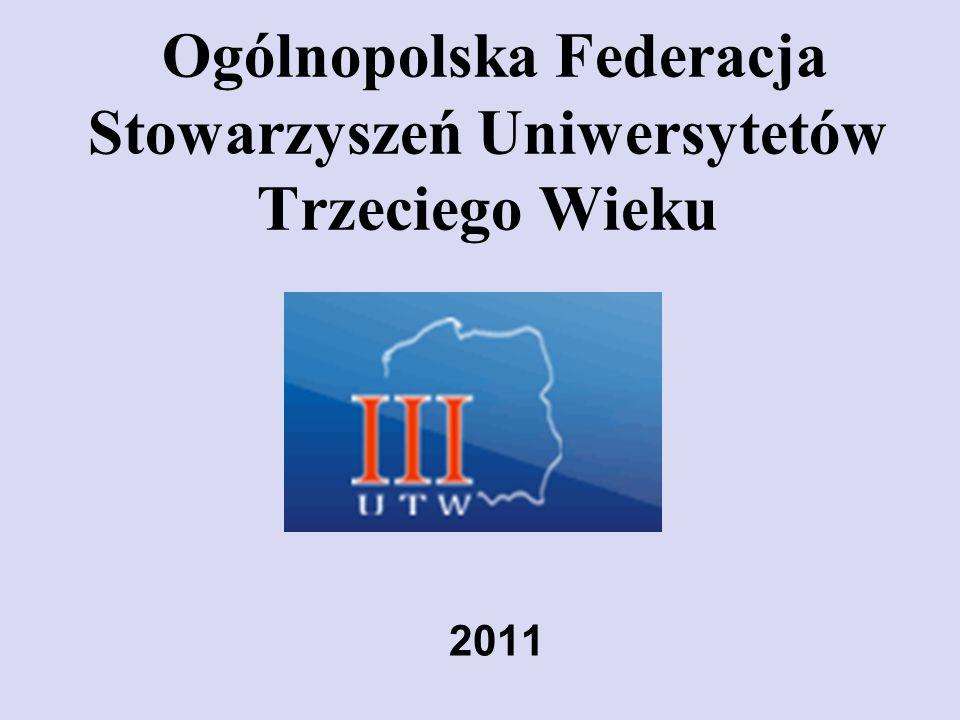 INICJATYWY FEDERACJI UTW Akademia Lidera UTW- programy szkoleniowe dot.