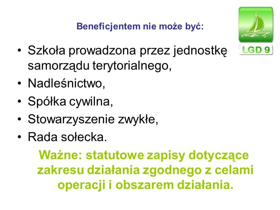 Wartość małych projektów Całkowity planowany koszt małego projektu musi wynosić co najmniej 4 500 złotych, lecz nie więcej niż 25 000 zł.