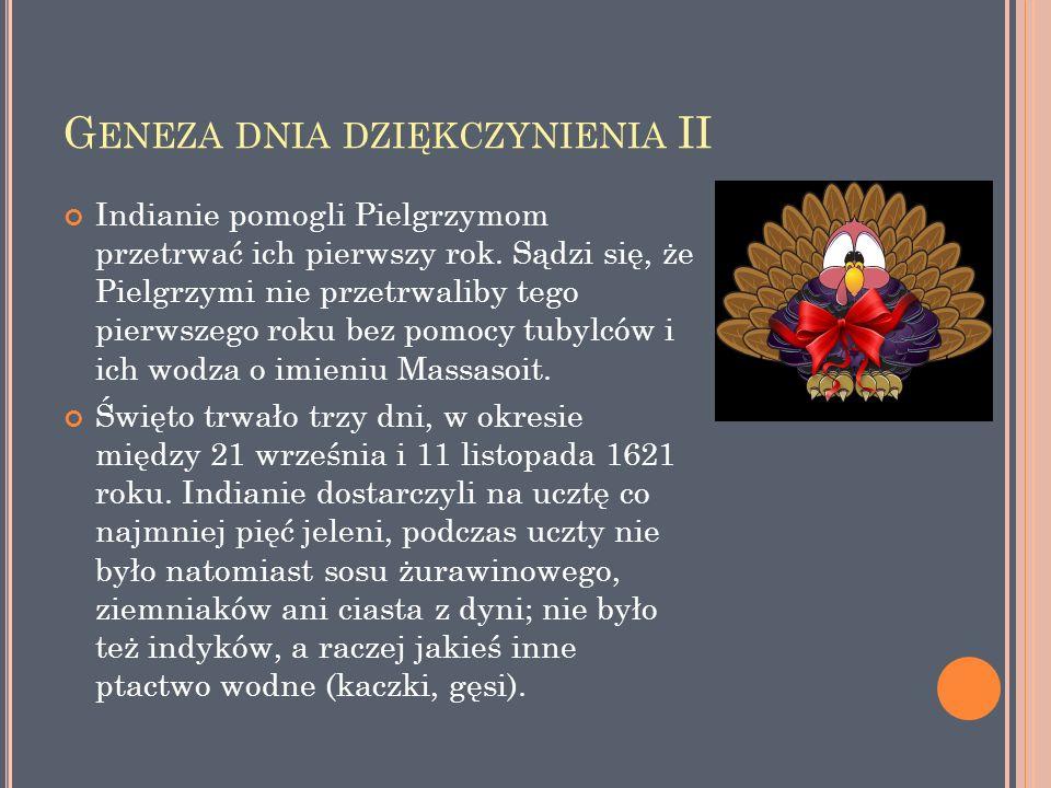 P IERWSZY D ZIEŃ D ZIĘKCZYNIENIA ( ANG.T HE F IRST T HANKSGIVING ) - OBRAZ AMER.