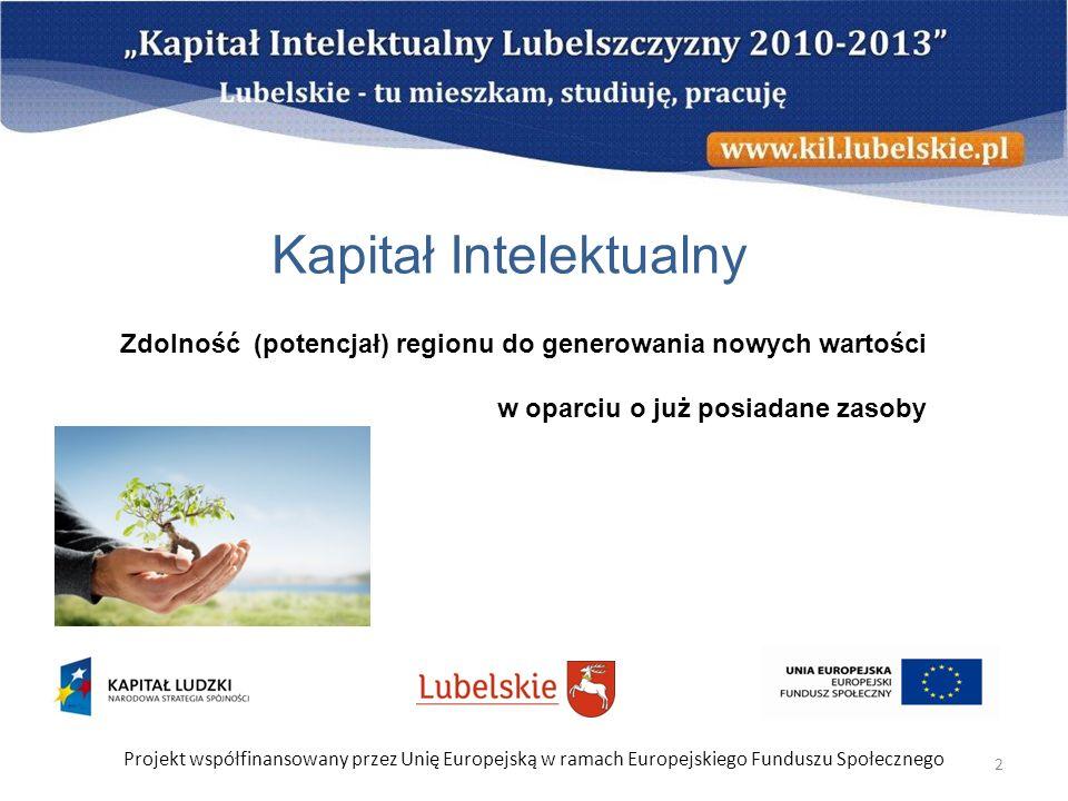 Projekt współfinansowany przez Unię Europejską w ramach Europejskiego Funduszu Społecznego 13 Jacy jesteśmy.