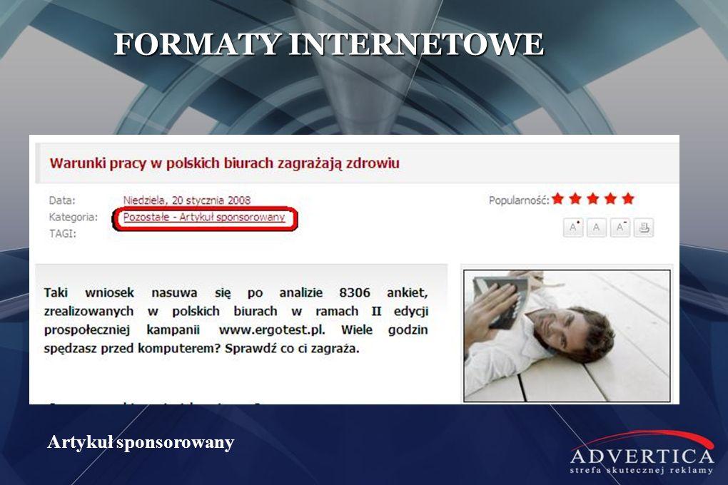 FORMATY INTERNETOWE Artykuł sponsorowany