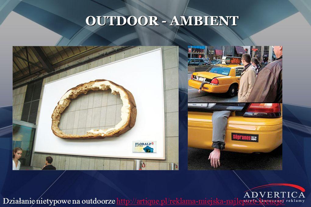 OUTDOOR - AMBIENT Działanie nietypowe na outdoorze http://artique.pl/reklama-miejska-najlepsze-kreacje/http://artique.pl/reklama-miejska-najlepsze-kre