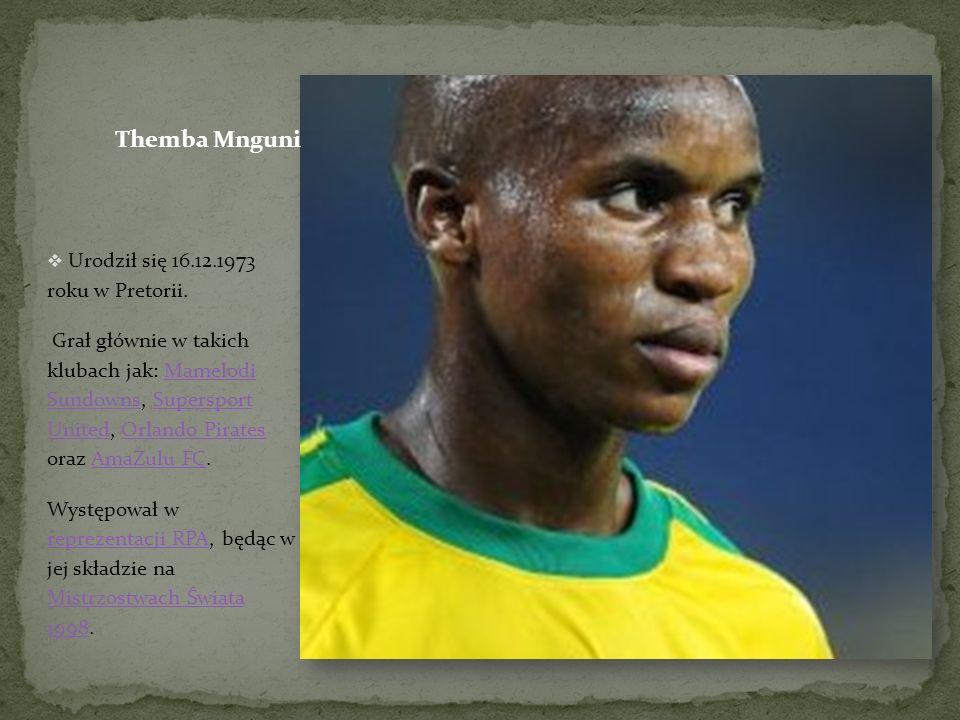 Urodził się 16.12.1973 roku w Pretorii.