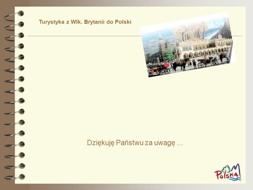 Dziękuję Państwu za uwagę... Turystyka z Wlk. Brytanii do Polski