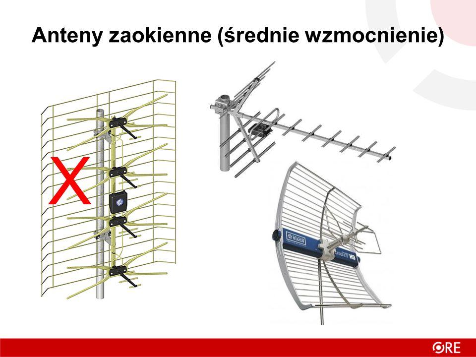 Anteny zaokienne (średnie wzmocnienie) X