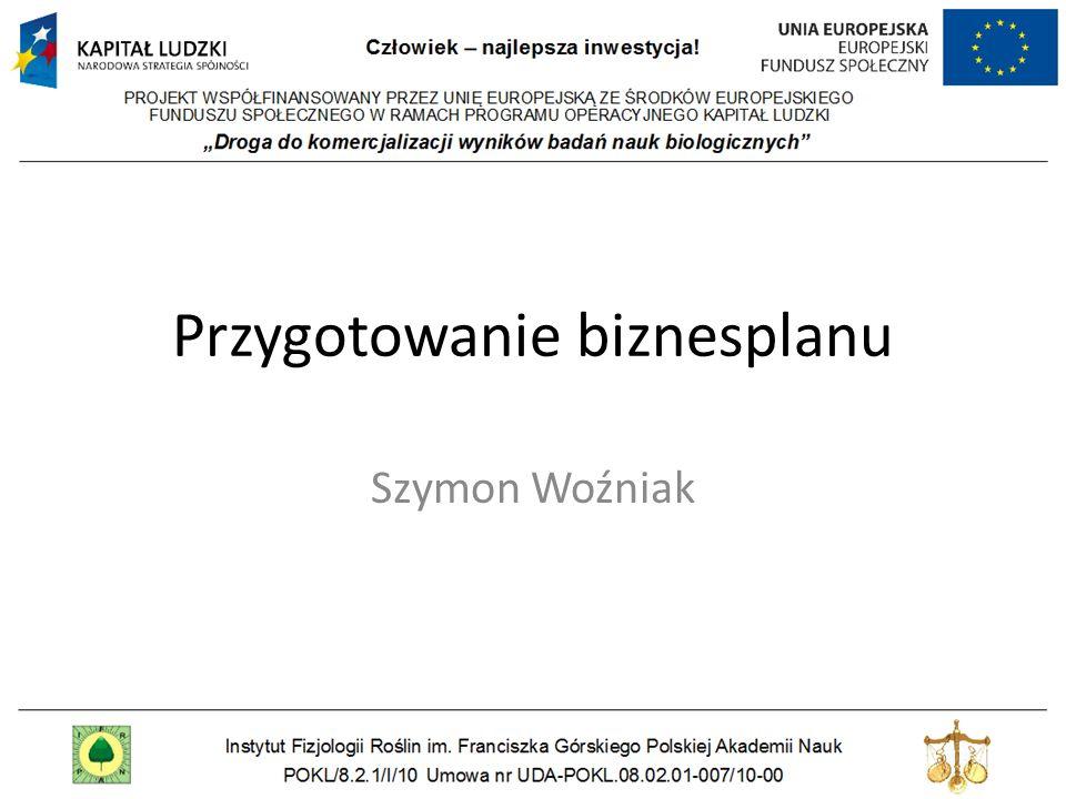 Przygotowanie biznesplanu Szymon Woźniak
