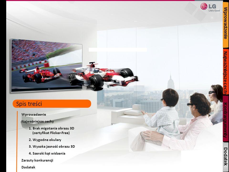Zarzuty konkurencji Argumenty odpierające te zarzuty Słyszałem, że LG CINEMA 3D nie zapewnia jakości obrazu na poziomie Full HD.