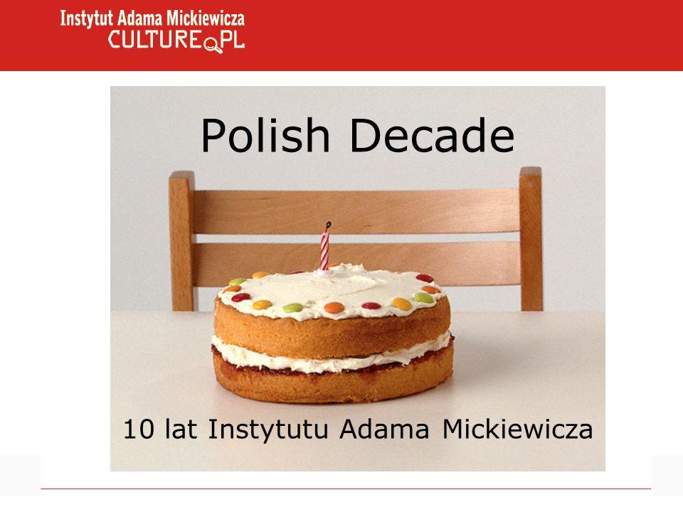 Polish Decade 10 lat Instytutu Adama Mickiewicza