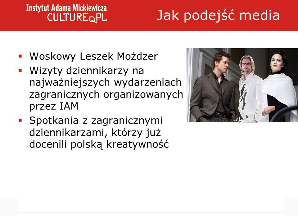 Jak podejść media Woskowy Leszek Możdzer Wizyty dziennikarzy na najważniejszych wydarzeniach zagranicznych organizowanych przez IAM Spotkania z zagran