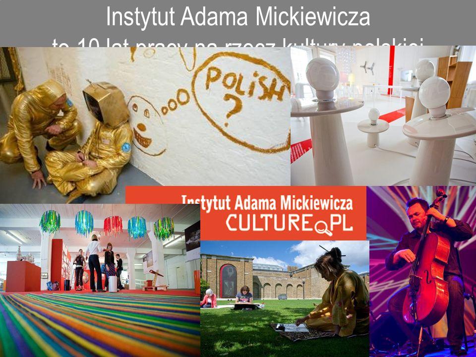 Instytut Adama Mickiewicza to 10 lat pracy na rzecz kultury polskiej