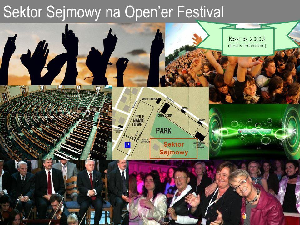 Sektor Sejmowy na Opener Festival Sektor Sejmowy Koszt: ok. 2.000 zł (koszty techniczne)