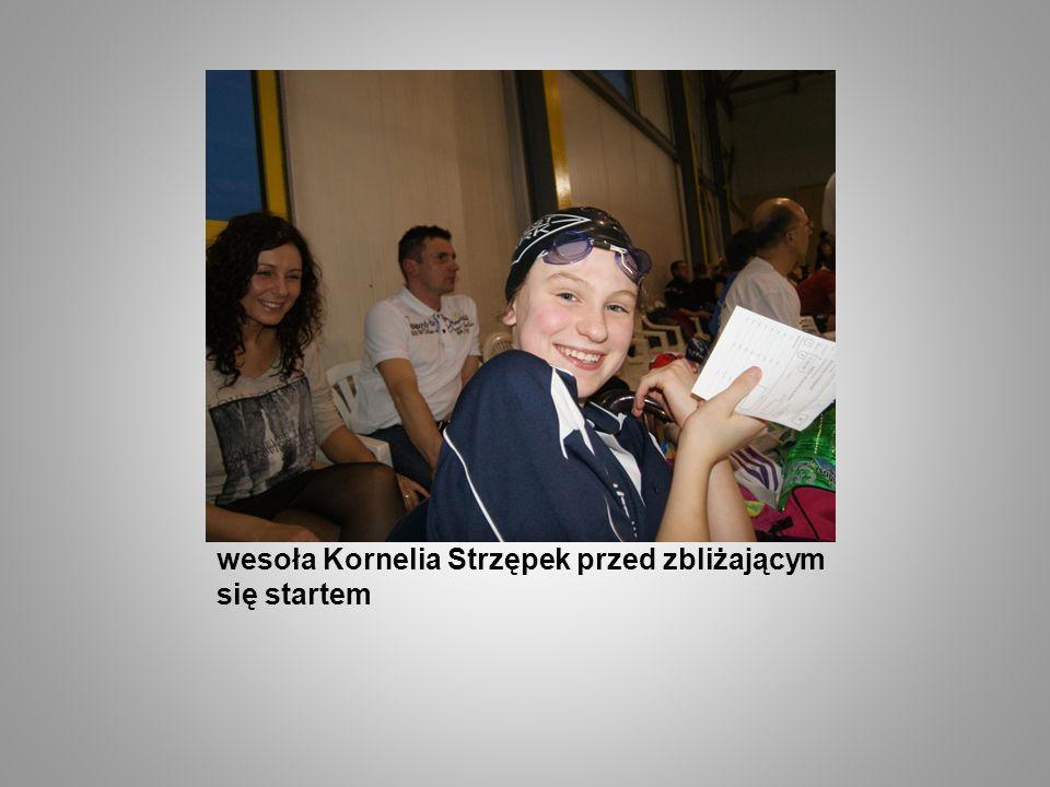 wesoła Kornelia Strzępek przed zbliżającym się startem