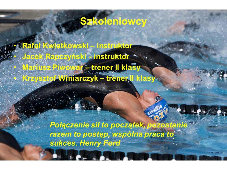 Szkoleniowcy Rafał Kwiatkowski – instruktor Jacek Rapczyński - instruktor Mariusz Piwowar – trener II klasy Krzysztof Winiarczyk – trener II klasy Poł