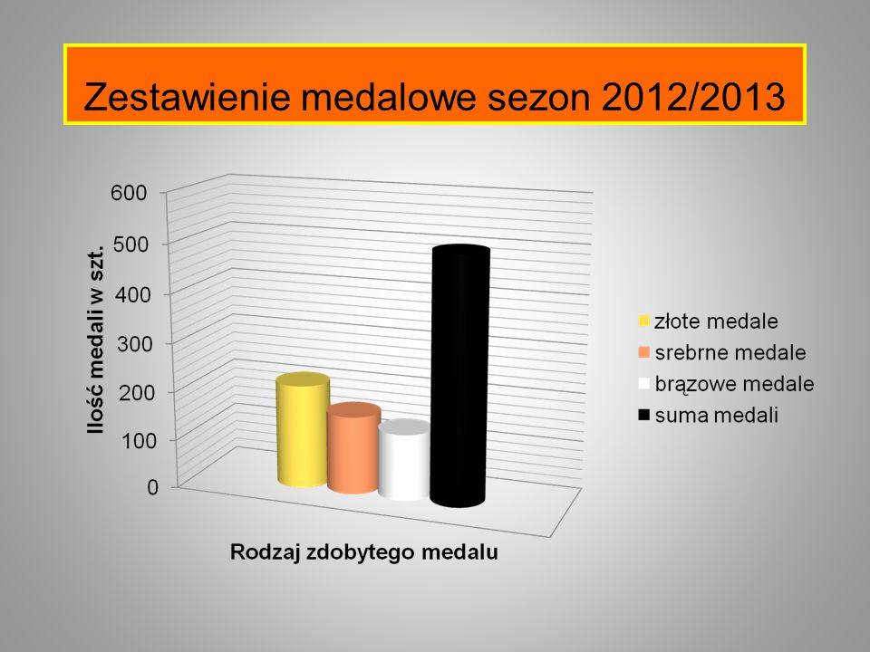 Zestawienie medalowe sezon 2012/2013