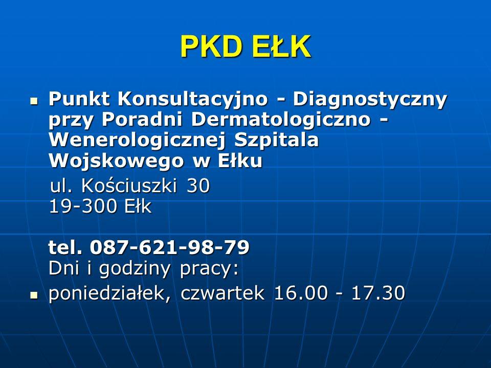 PKD EŁK Punkt Konsultacyjno - Diagnostyczny przy Poradni Dermatologiczno - Wenerologicznej Szpitala Wojskowego w Ełku Punkt Konsultacyjno - Diagnostyc