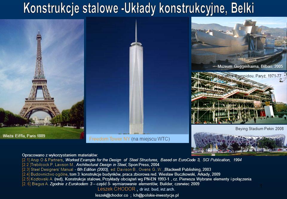 1 Leszek CHODOR, dr inż. bud, inż.arch. leszek@chodor.co ; lch@polskie-inwestycje.pl Opracowano z wykorzystaniem materiałów: [2.1] Arup O & Partners,