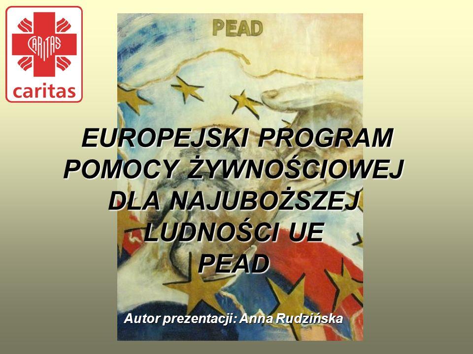 Przed pierwszym odbiorem unijnych artykułów spożywczych w danym roku trwania programu PEAD Partnerzy/Placówki (Parafie) są zobowiązane do uaktualnienia danych osobowych ich podopiecznych.